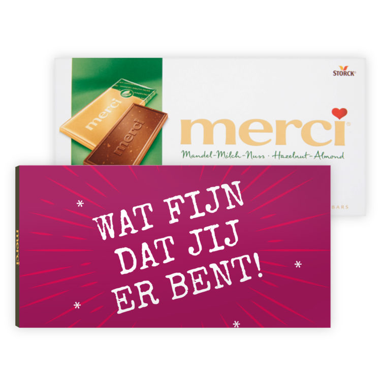 merci chocolade cadeautjes