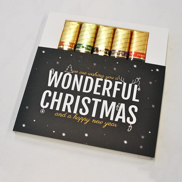 originele chocolade kerst bedankjes