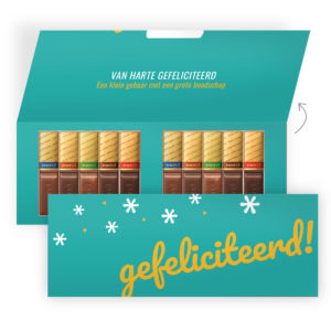 gefeliciteerd chocolade bedankjes
