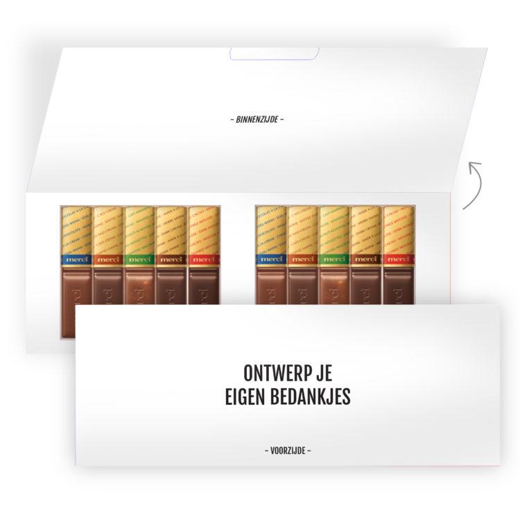 eigen chocolade bedankjes ontwerpen