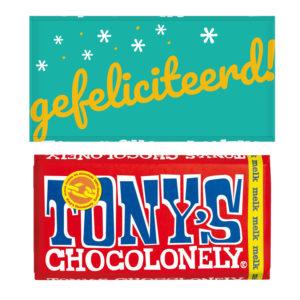 gefeliciteerd tony chocolade