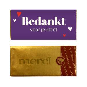inzet chocolade bedankt