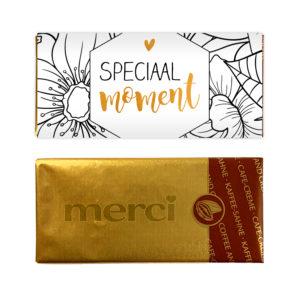 speciaal chocolade bedankje