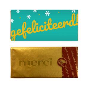gefeliciteerd chocolade