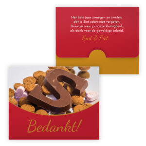 sint chocolade merci bedankt