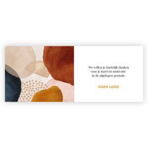 motivatie chocolade bedankjes kaart