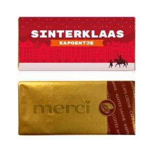 Sinterklaas kapoentje chocolade Merci mini reep