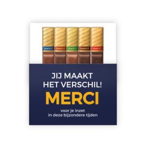 jij maakt het verschil merci chocolade