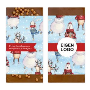 Luxe ambachtelijke chocolade kerst bedankjes
