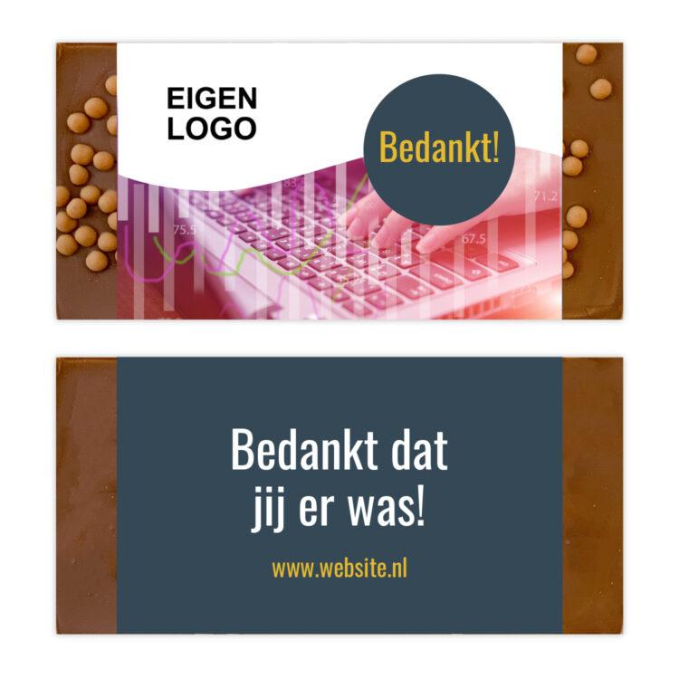 Luxe eigen logo ambachtelijke chocolade bedankjes