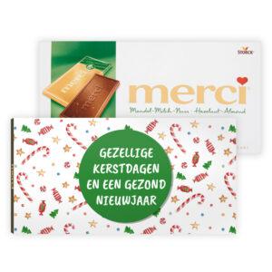Relatiegeschenk chocolade kerst met logo