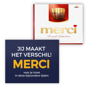 mercikes chocolade collega bedankjes