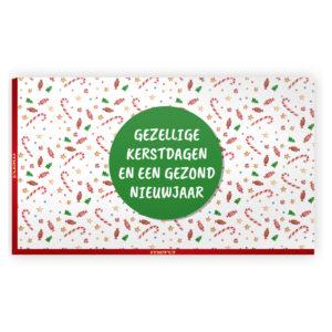 Merci groot kerst bedankjes met kaart