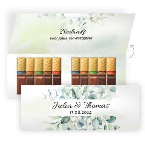 Luxe chocolade geschenk bruiloft