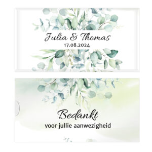 Bruiloft bedankjes Tony chocolonely