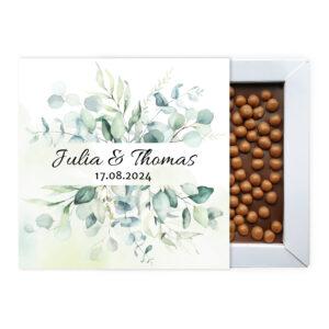 Bruiloft ambachtelijke chocolade bedankjes