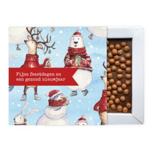 Kerst ambachtelijke chocolade bedankjes