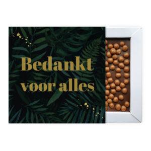 ambachtelijke chocolade bedankjes blok