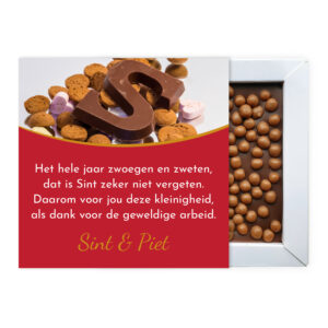 Sinterklaas gedicht met chocolade