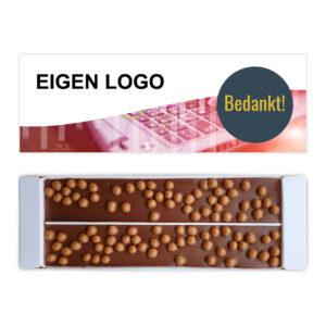 ambachtelijke chocolade met logo
