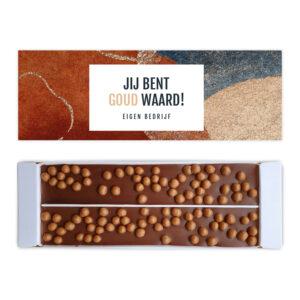 Goud waard ambachtelijke chocolade bedankjes