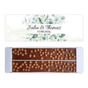 Ambachtelijke chocolade trouw bedankjes