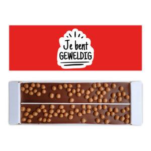 Ambachtelijke chocolade bedankt Je bent geweldig 2 repen
