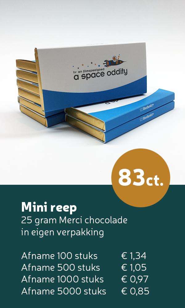 merci mini reep chocolade bedankjes