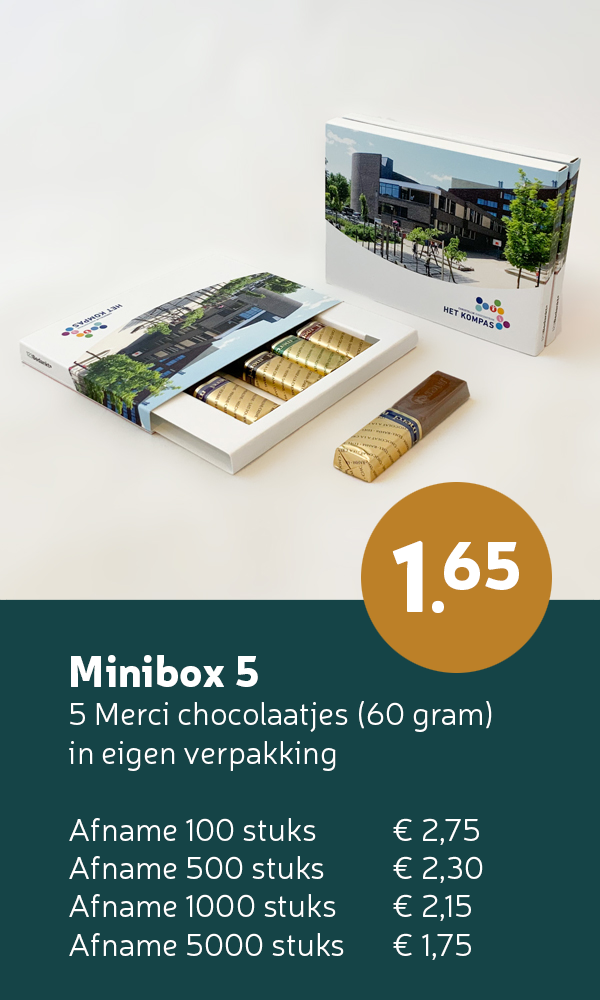 merci minibox chocolade bedankjes