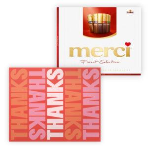 Thanks chocolade bedankjes Merci