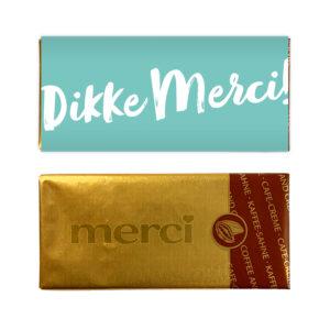 Dikke merci chocolade bedankje mini reep