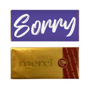 Sorry chocolade bedankje mini reep