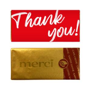 Thank you chocolade bedankje mini reep