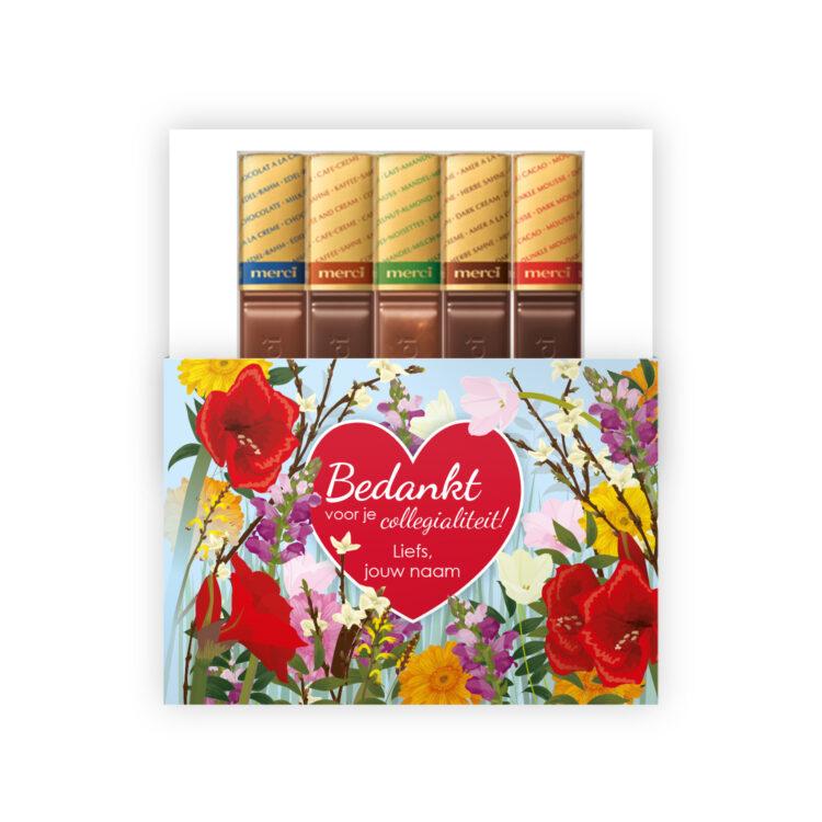 Bedankt collega chocolade