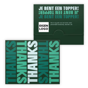 Merci chocolade bedankjes met eigen logo