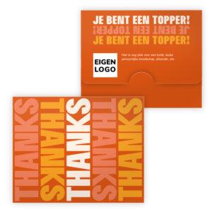 Merci chocolade bedankt met logo