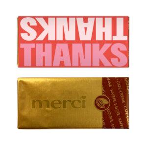 klein bedankje met chocolade