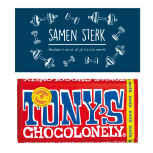 Samen sterk tony's chocolade bedankjes