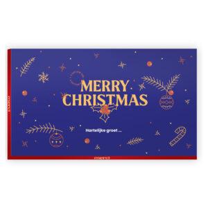 Merry Christmas chocolade bedankjes