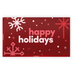 Happy holidays chocolade geschenk