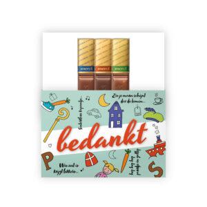 Sint Nicolaas chocolade met tekst