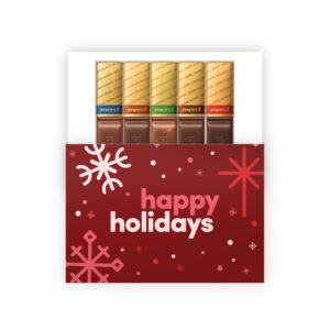 happy holidays chocolade geschenkjes