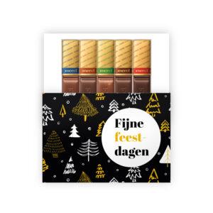 feestdagen geschenk met chocolade